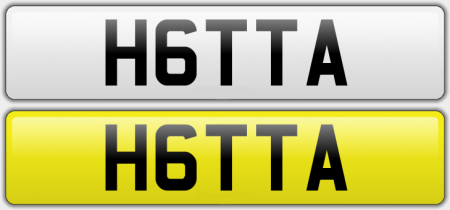 H6TTA CHERISHED NUMBER PLATE